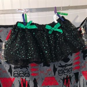 Hot Topic Green and Black Polka Dot Tutu